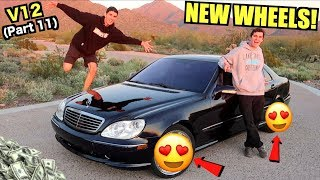 $850 Mercedes S600 Gets NEW WHEELS! (Worth More Than The Car)