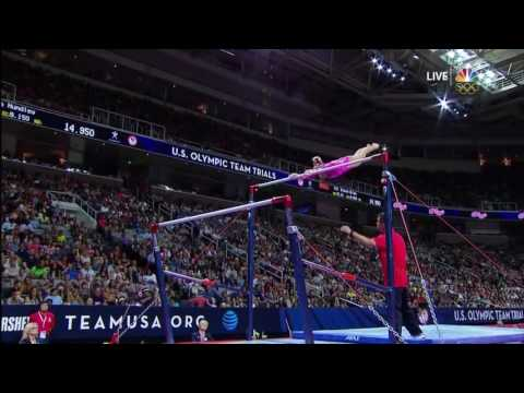 Ashton Locklear Uneven Bars Olympic Trials Day 1