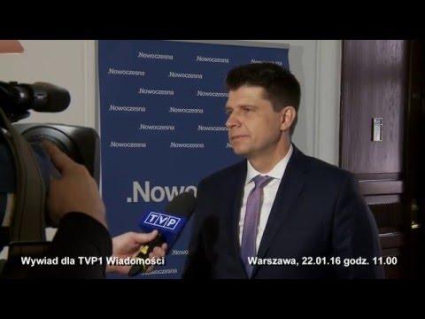 Komentarz Ryszarda Petru Dla Wiadomości TVP1, 22.01.2016