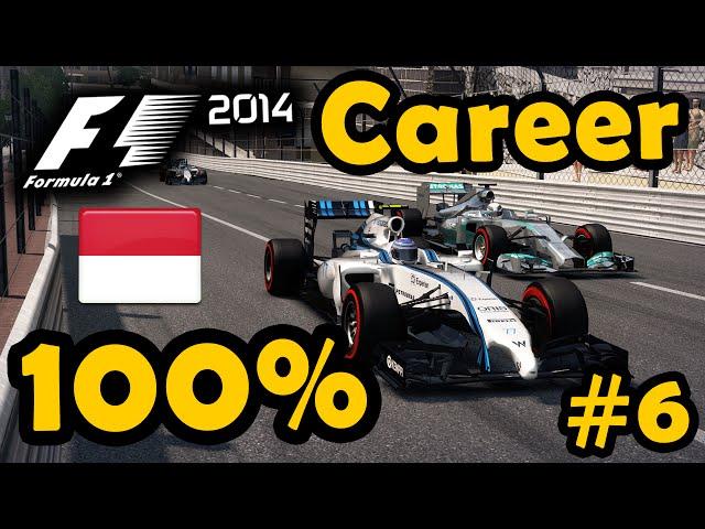 F1 2014 Career Mode: 100% Monaco Grand Prix (Part 6 - Legend AI)