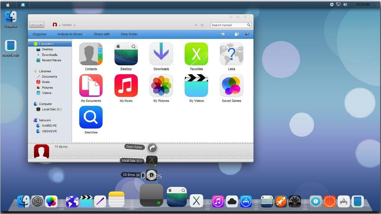 Tema MAC OSX Yosemite para Windows 7,8,10 y