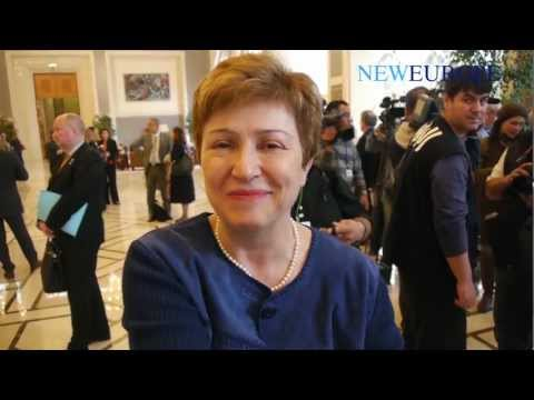 European Commissioner Kristalina Georgieva at UN Donor conference for Syria in Kuwait