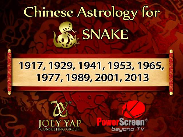 JOEY YAP Astrology SNAKE