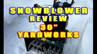 SNOWBLOWER REVIEW - Yard Works 30 Cut From Canadian Tire
