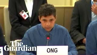 'Stop putting kids in jail': Indigenous boy asks the UN to help end youth incarceration