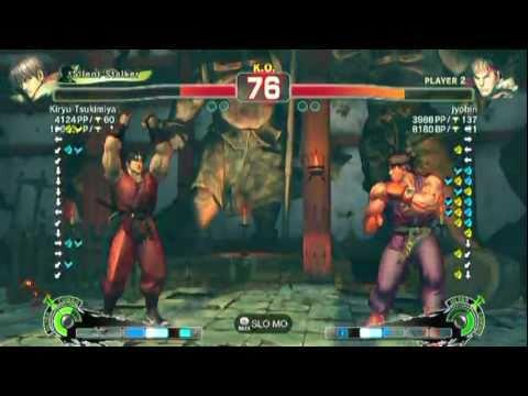 Guy(Kiryu Tsukimiya) VS Ryu(jyobin)