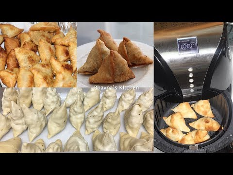 Bulk Samosa Making with Ease Video Recipe | Air Fryer Baked Bhavna's Kitchen