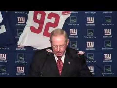 Tom Coughlin talks about Strahan retirement