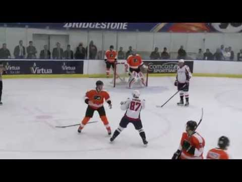 Samuel Morin vs Liam O'Brien Flyers Capitals Preseason Rookie Game 091614