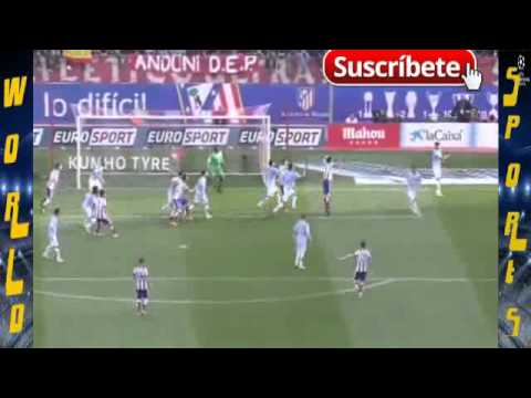 Tiago mendez Goal Atletico Madrid vs Malaga 1-0 LA LIGA