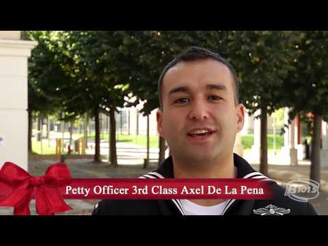 B101.5 thanks the military men and women who are currently serving their country, here in America, and all around the world. Happy Holidays from B101.5! Petty Officer 3rd Class Axel De La...