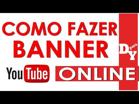 COMO FAZER UM BANNER ONLINE FÁCIL - iniciantes - Dicas Para Youtubers thumbnail