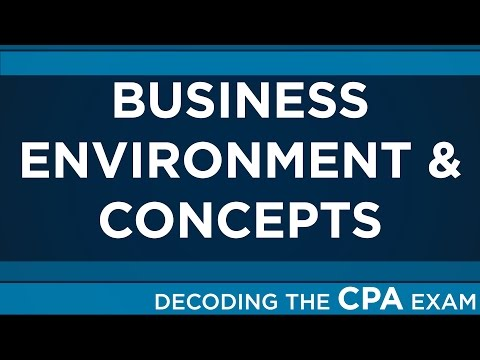 Decoding the CPA Exam | Business Environment & Concepts