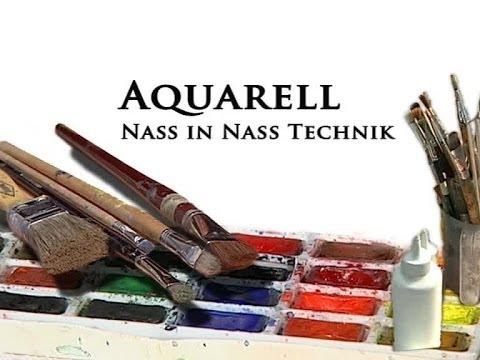 Aquarellmalerei Grundkurs - Nass In Nass Technik
