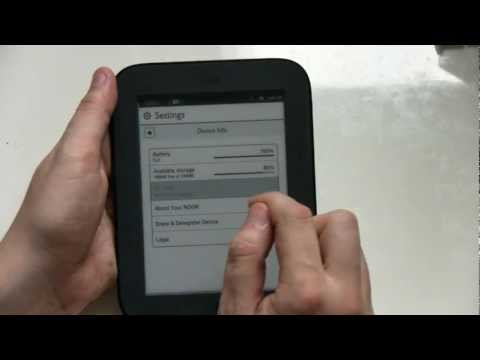 Nook Simple Touch Firmware Upgrade HowTo and Hands On