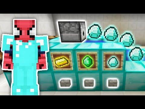 ZENGİN VS FAKİR ÖRÜMCEK ADAM #39 - Zengin'in Elmas Makinesi (Minecraft)