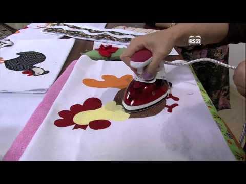 Mulher.com 01/04/2013 Pano de copa com aplicação galo e barrados Maria  Parte 2/2