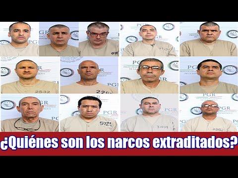 ¿Quiénes son los narcos extraditados a Estados Unidos?