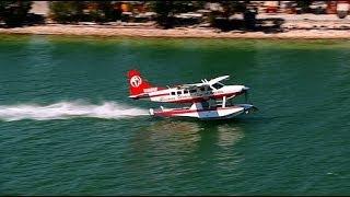 Seaplane Takeoff From Miami Seaplane Base On Watson Island