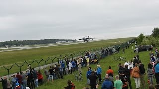 Extremely short take off Lockheed C-5 Galaxy at Gdansk.