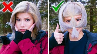 Trying AWFUL 5-Minute Winter Clothing Hacks