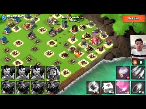 Boom Beach The BEST and HARDEST Real Player DEFENCE Layout [ BLACKJAW ]