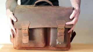 """""""Vintage Leather Satchel"""" by Ruitertassen of: Shop.Ruitertassen-Bags.co.uk."""