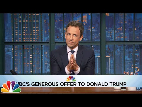 Seth Makes Trump an Amazing Offer