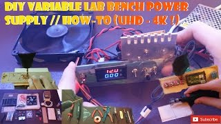 DIY variable lab bench power supply // How-To (UHD - 4K !)