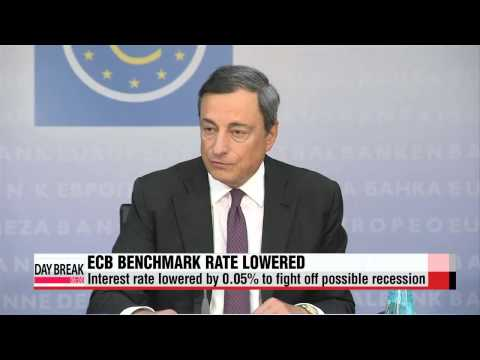 ECB lowers eurozoneinterest rates to 0.05%   ECB 기준금리 0.05%로 인하 `사상 최저