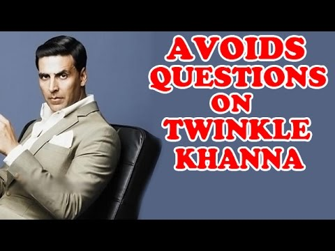 Akshay Kumar avoids questions on Twinkle Khanna's tiff with Chetan Bhagat | EXCLUSIVE