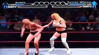 WWE SvR Bra & Panties Match Sable vs Torrie Wilson