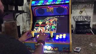 "19"" Ms Pac-Man Bartop Arcade, Marvel Vs Capcom Gameplay"