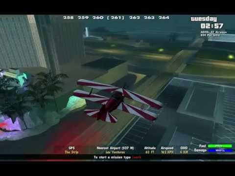 GTA SA Stunt plane flying