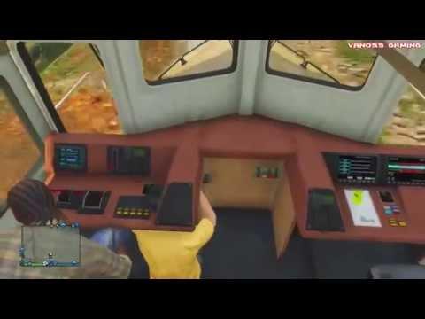 GTA 5 Смешные моменты #11 Как угнать поезд (приколы, баги, геймплей, глюки)