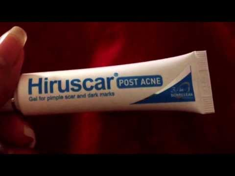 Review for Hiruscar Post Acne Gel for pimple n acne scars or marks.