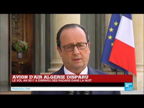 François Hollande à propos du vol AH5017 d'Air Algérie :