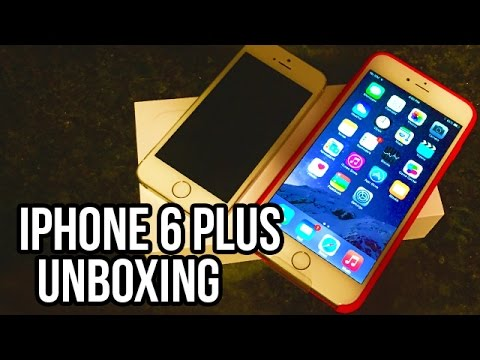 Apple iPhone 6 Plus Unboxing!! Setup and Hands On Review - Gold iPhone 6!!