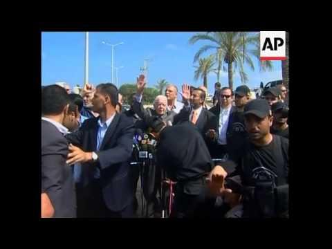 Former US President Jimmy Carter visits Gaza refugee camp