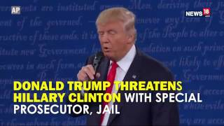 Donald Trump Threatens Hillary Clinton With Special Prosecutor, Jail