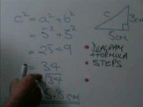 How to lay put Pythagoras Theorem calculations Video