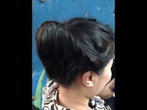 Cara Membuat Sanggul Sendiri, Cara Membuat Sanggul Sederhana, How To Make Hair Style Simple
