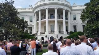 TigerNet.com - 2016 National Champions Clemson Tigers enter White House ceremony to Tiger Rag