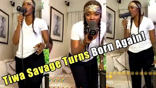 Tiwa Savage Turns Born Again as she Leads in Holy Ghost Filled Praise and Worship Session