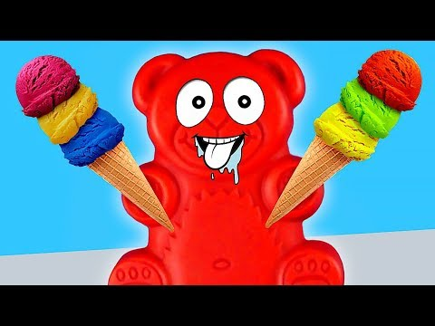 REAL FRUIT ICE CREAM MADE BY JELLY GUMMY BEAR FOR HIS FRIENDS