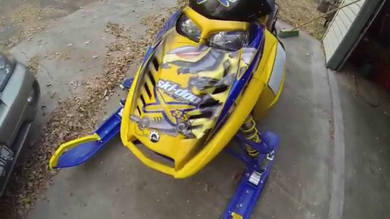 2007 Ski-doo XRS 600 SDI Powder Coated tunnel and skid! C ...
