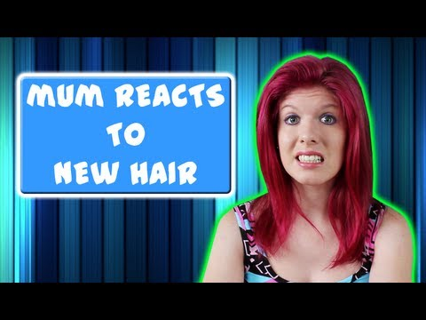 Mum Reacts To New Hair