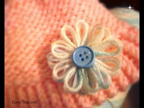 Flower on a Knifty Knitter Flower Loom - Make with Any 12