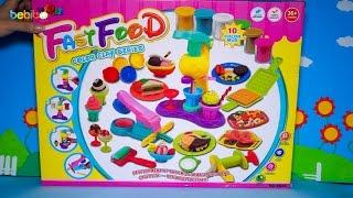 Mở hộp bộ đồ chơi nấu ăn - Máy làm kem, máy làm bánh, máy làm đồ ăn bằng đất sét