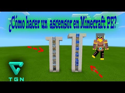 ¿Cómo hacer un elevador en minecraft pocket edition?